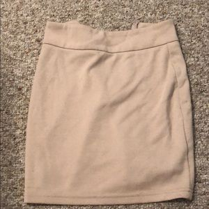 Tan mini skirt